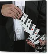 Shuffling Cards Canvas Print
