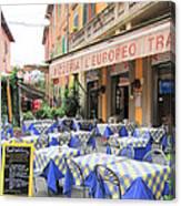 Sidewalk Cafe In Italy Canvas Print