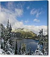 Snow Lake Vista Canvas Print