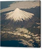 Snowcovered Volcano Andes Chile Canvas Print