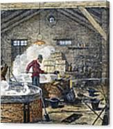Soap Manufacture, C1870 Canvas Print