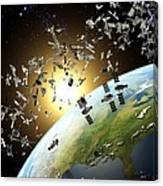 Space Junk, Conceptual Artwork Canvas Print