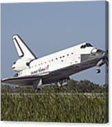 Space Shuttle Atlantis Touches Canvas Print