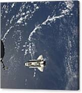 Space Shuttle Endeavour Backdropped Canvas Print