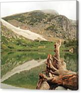 St. Mary's Lake And Glacier Canvas Print