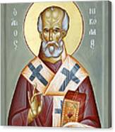 St Nicholas Of Myra Canvas Print