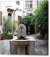 St. Paul De Vence Fountain Canvas Print