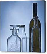 Still Life Of Bottles  Canvas Print