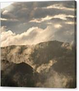 Storm Clouds Gather Over Mountains Canvas Print