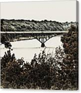 Strawberry Mansion Bridge From Laurel Hill Canvas Print