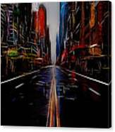 Streets Of New York  Canvas Print
