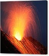 Strombolian Eruption Of Stromboli Canvas Print