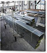Structural Steel Construction. Metal Canvas Print