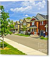 Suburban Homes Canvas Print
