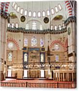 Suleymaniye Mosque Interior Canvas Print