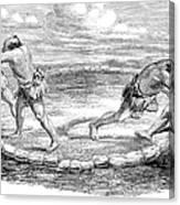 Sumo Wrestling, 1853 Canvas Print
