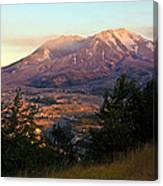 Sun Going Down At Mt. St. Helens Canvas Print