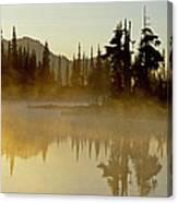 Sunlight On An Alpine Lake Canvas Print
