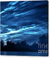 Sunrise In Blue Canvas Print