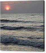 Sunrise Over Arabian Sea Hawf Protected Canvas Print