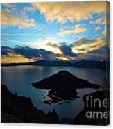 Sunrise Over The Wizard Canvas Print