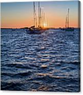 Sunset Moorings Chausey Canvas Print