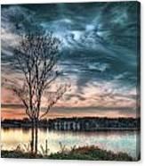 Sunset Over Canebrake Canvas Print