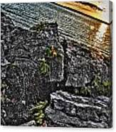 Sunset Please On The Rocks Canvas Print