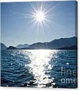 Sunshine Over An Alpine Lake Canvas Print