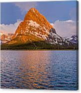 Swiftcurrent Lake Panorama Canvas Print