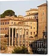 Temple Of Saturn In The Forum Romanum. Rome Canvas Print