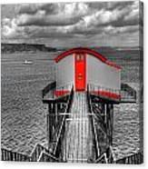 Tenby Lifeboat House Colour Pop Canvas Print