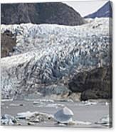 Terminal Moraine And Glacial Lake Canvas Print