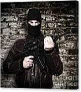 Terrorist Portrait Canvas Print