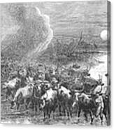 Texas: Cattle Drive, 1867 Canvas Print