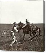 Texas: Cowboys, C1908 Canvas Print