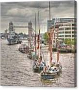 Thames Barges Tower Bridge 2012 Canvas Print