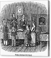 Thanksgiving, 1853 Canvas Print