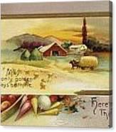 Thanksgiving Card, C1910 Canvas Print