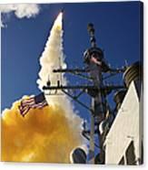 The Aegis-class Destroyer Uss Hopper Canvas Print