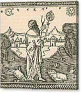 The Astrologer Albumasar Canvas Print