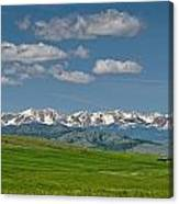 The Bridger Mountains Canvas Print