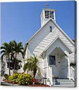 The Community Chapel Of Melbourne Beach Florida Canvas Print