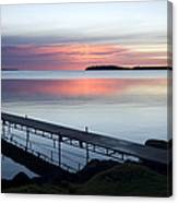 The Dock At Traders Bay Lodge On Leech Canvas Print