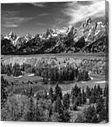 The Grand Tetons And The Snake River Canvas Print