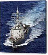 The Guided Missile Destroyer Uss Nitze Canvas Print