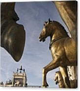 The Horses On The Basilica San Marcos Canvas Print