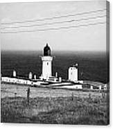 The Lighthouse At Dunnet Head Most Northerly Point Of Mainland Britain Scotland  Canvas Print