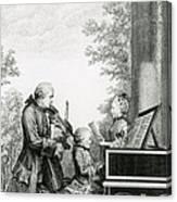 The Mozart Family On Tour, 1763 Canvas Print
