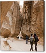 The Slot Canyons Leading Into Petra Canvas Print